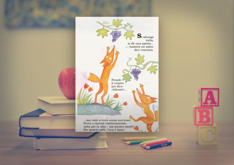 La Volpe e l'Uva (The Fox & the Grapes)- Italian Stories for Kids to Learn Italian